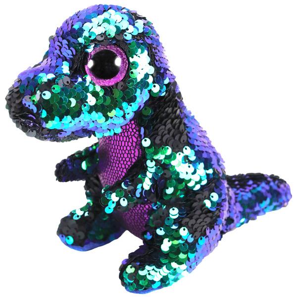 Flippables-Peluche à sequins Crunch le dinosaure 15 cm