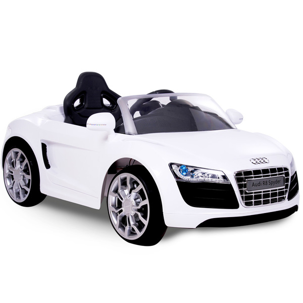 Voiture Audi 6v R8 RollplayKing Électrique Blanche Jouet WD29IEYH