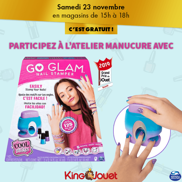 Animations du King : Go Glam Nail Stamper