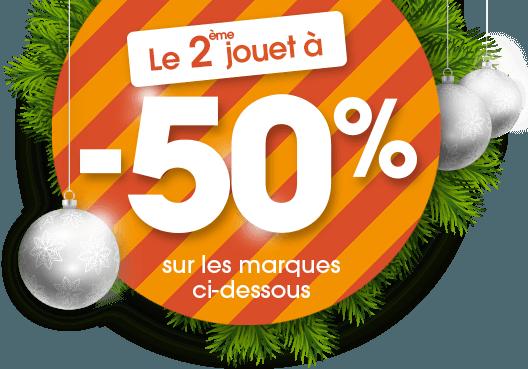 -50% sur le 2eme jouet