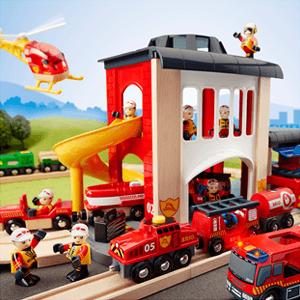 Les Pompiers et la Police Brio