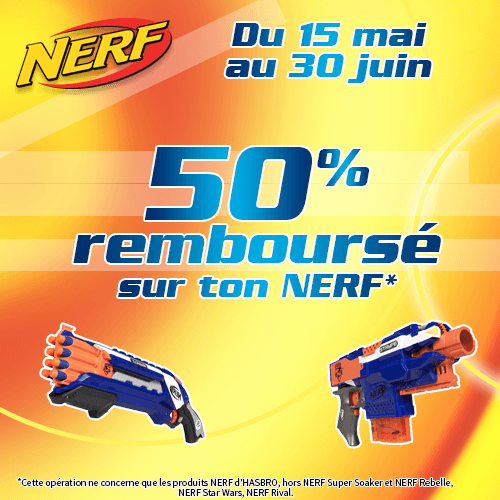 Offres commerciales Hasbro-Nerf