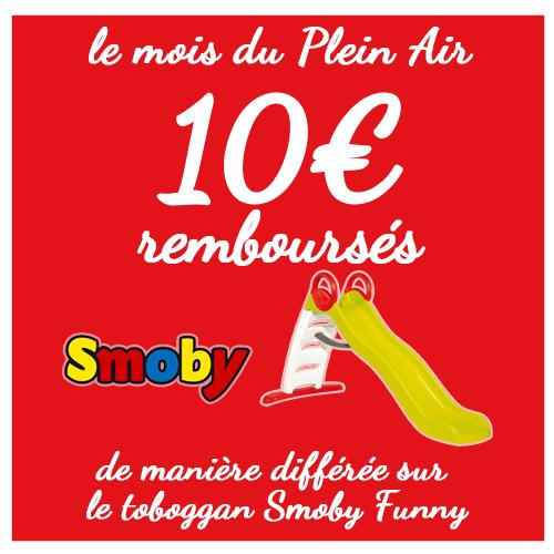 Smoby offres commerciales toboggan Funny