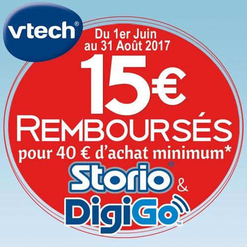 Offres commerciales Vtech Digigo et Storio