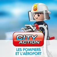 Playmobil City Action Les Pompiers et l'aéroport